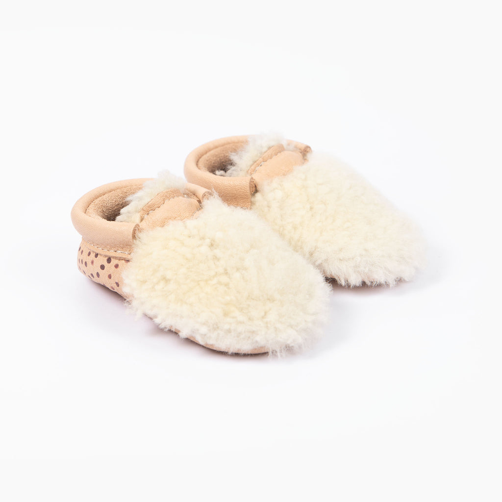 NATURAL SPOT YETI MOCCASINS STOCK SALE - VARIOUS SIZES