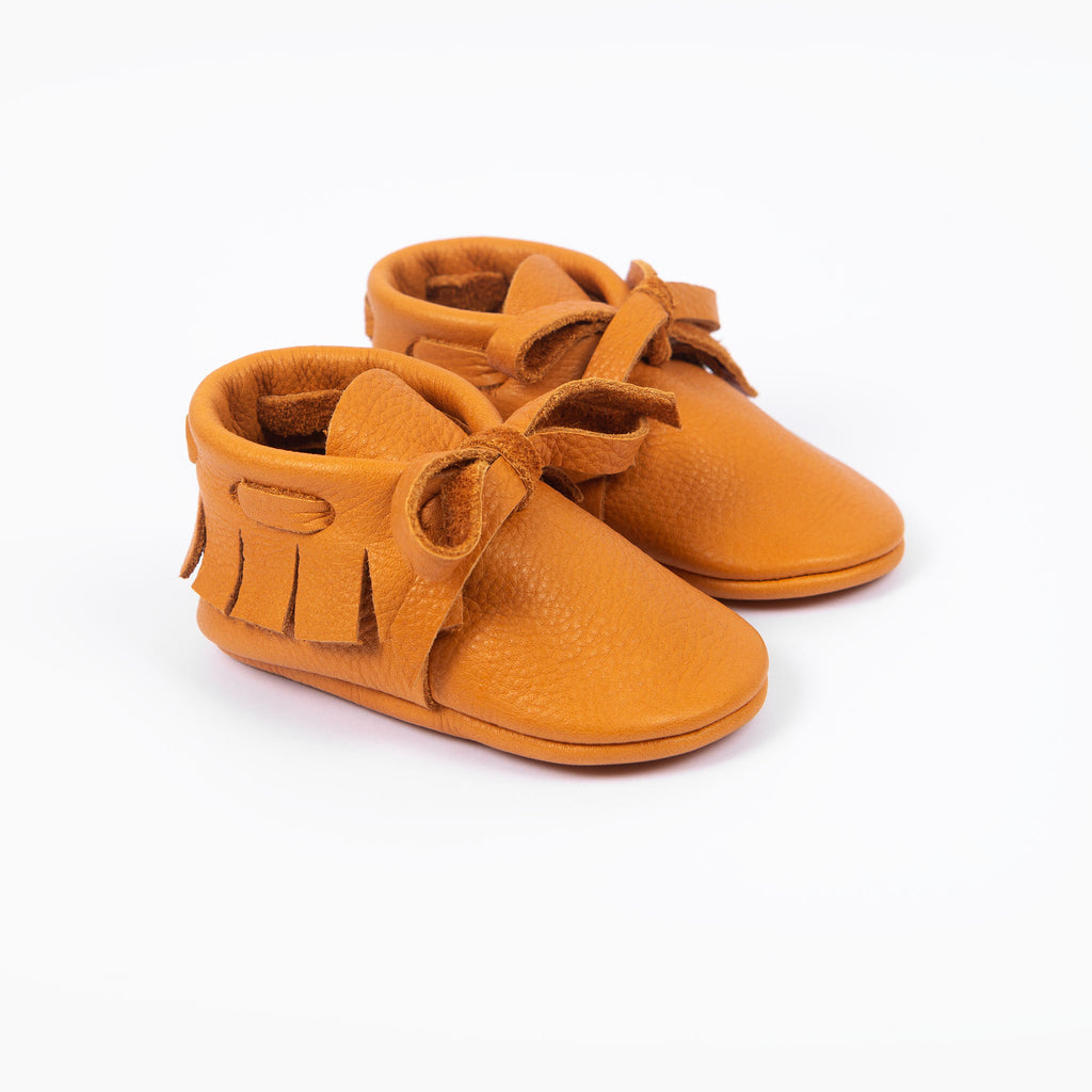 OCHRE LACED MOCCASINS STOCK SALE - VARIOUS SIZES
