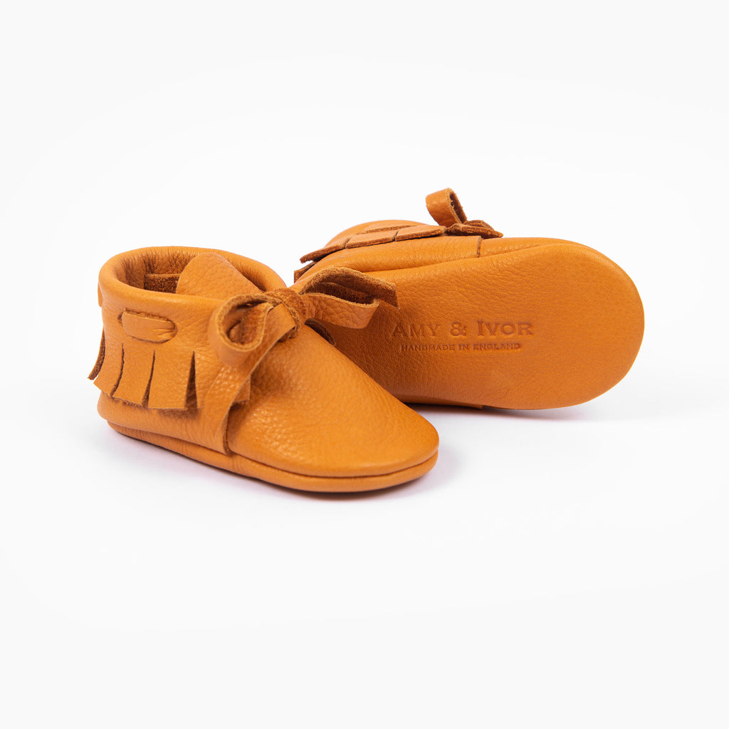 OCHRE LACED MOCCASINS