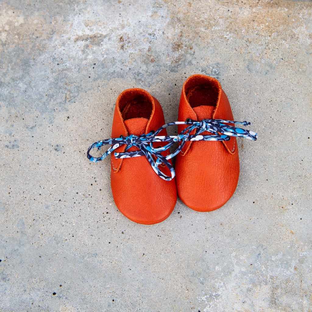 TOMATO TRAVELLERS WITH LIBERTY PRINT LACES