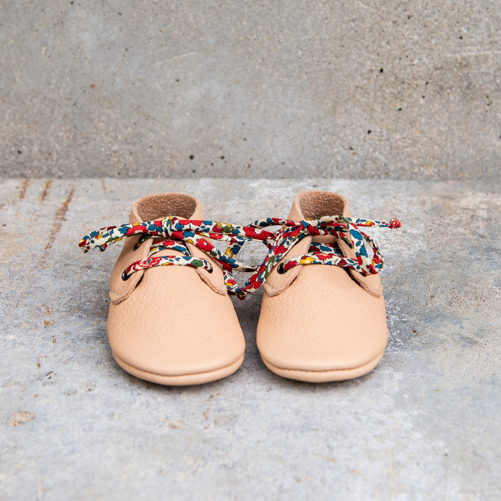 NATURAL TRAVELLERS WITH LIBERTY PRINT LACES