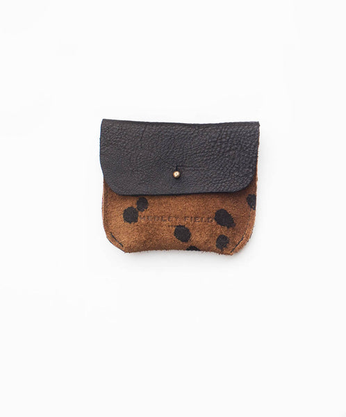 BLACK + CHEETAH COIN/CARD PURSE - Hedley Field