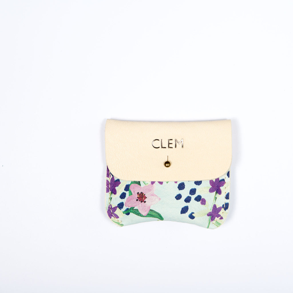 BLUE FLORAL COIN/CARD PURSE - Hedley Field