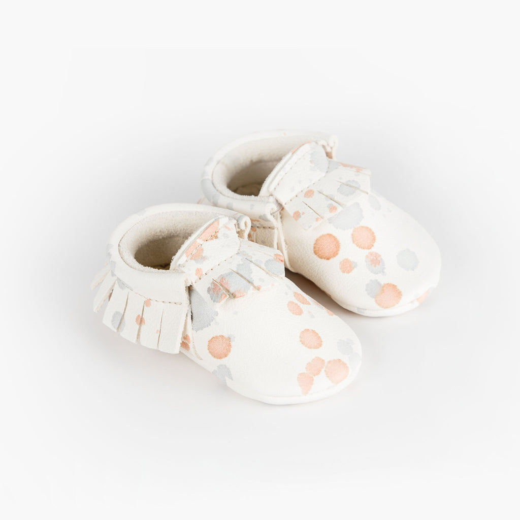 BLUSH SPLATTER MOCCASINS STOCK SALE - VARIOUS SIZES