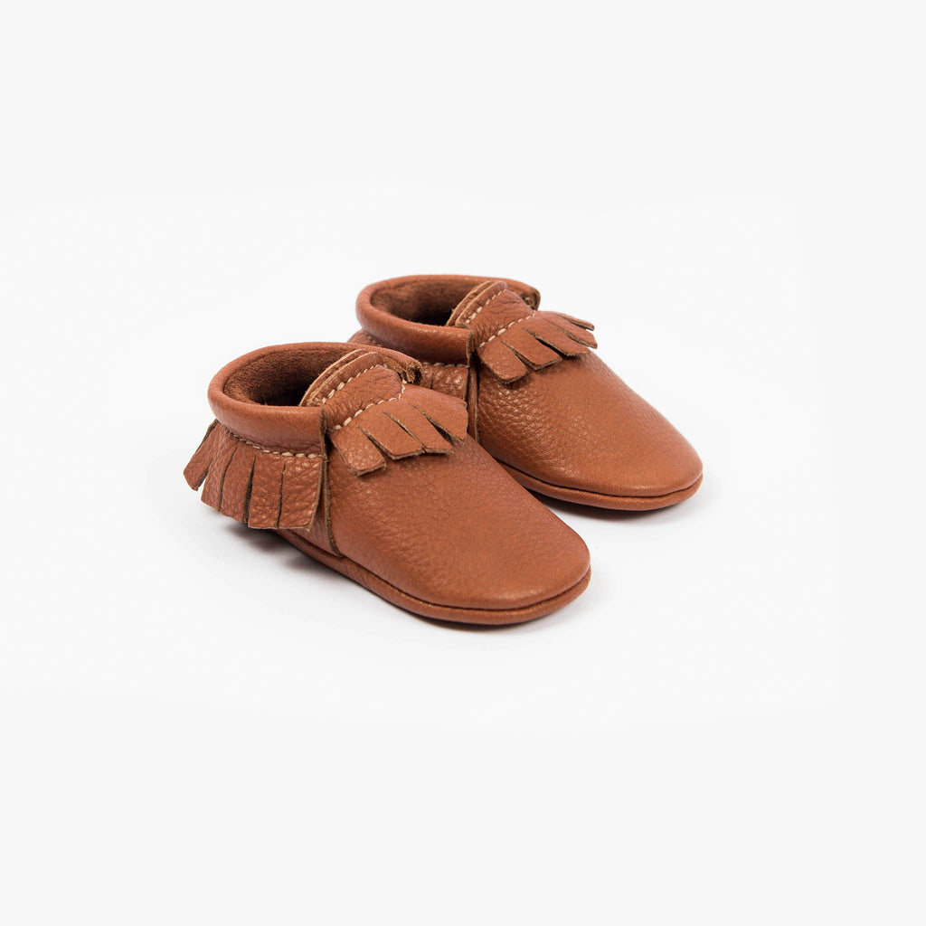 BURNT SIENNA MOCCASINS STOCK SALE - VARIOUS SIZES