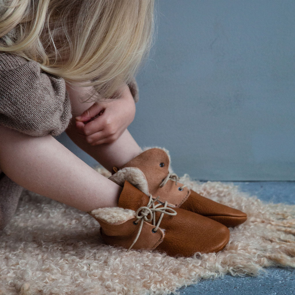 CINNAMON SHEEPSKIN HIGH TOPS STOCK SALE - VARIOUS SIZES