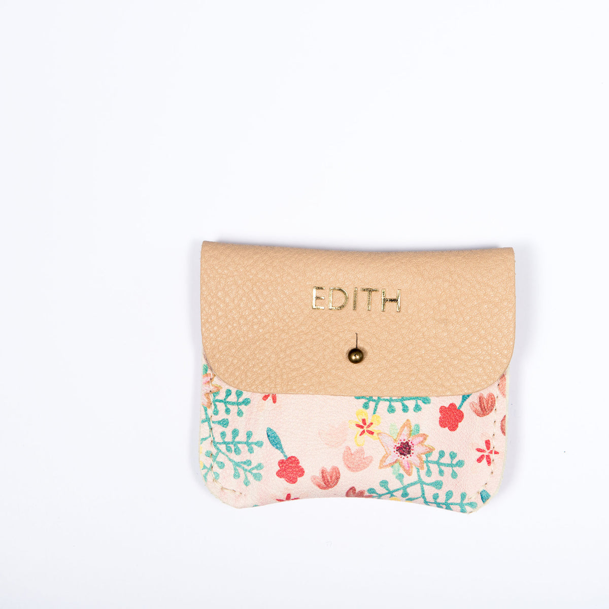 PINK FLORAL COIN/CARD PURSE