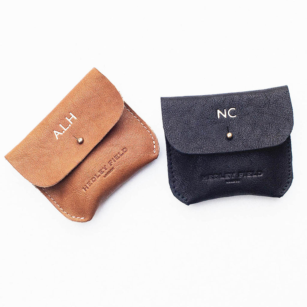 PERSONALISED BLACK COIN/CARD PURSE WITH LOGO - STOCK SALE
