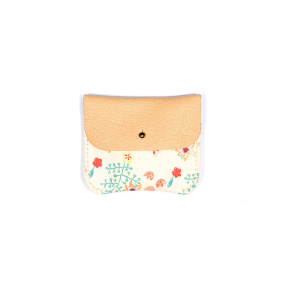 PINK FLOWER COIN/CARD PURSE