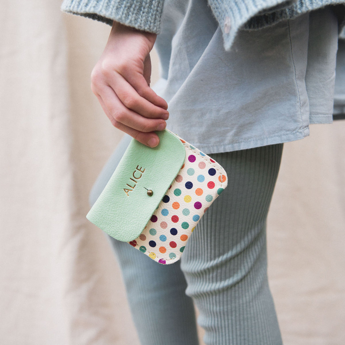 POLKA DOT COIN/CARD PURSE