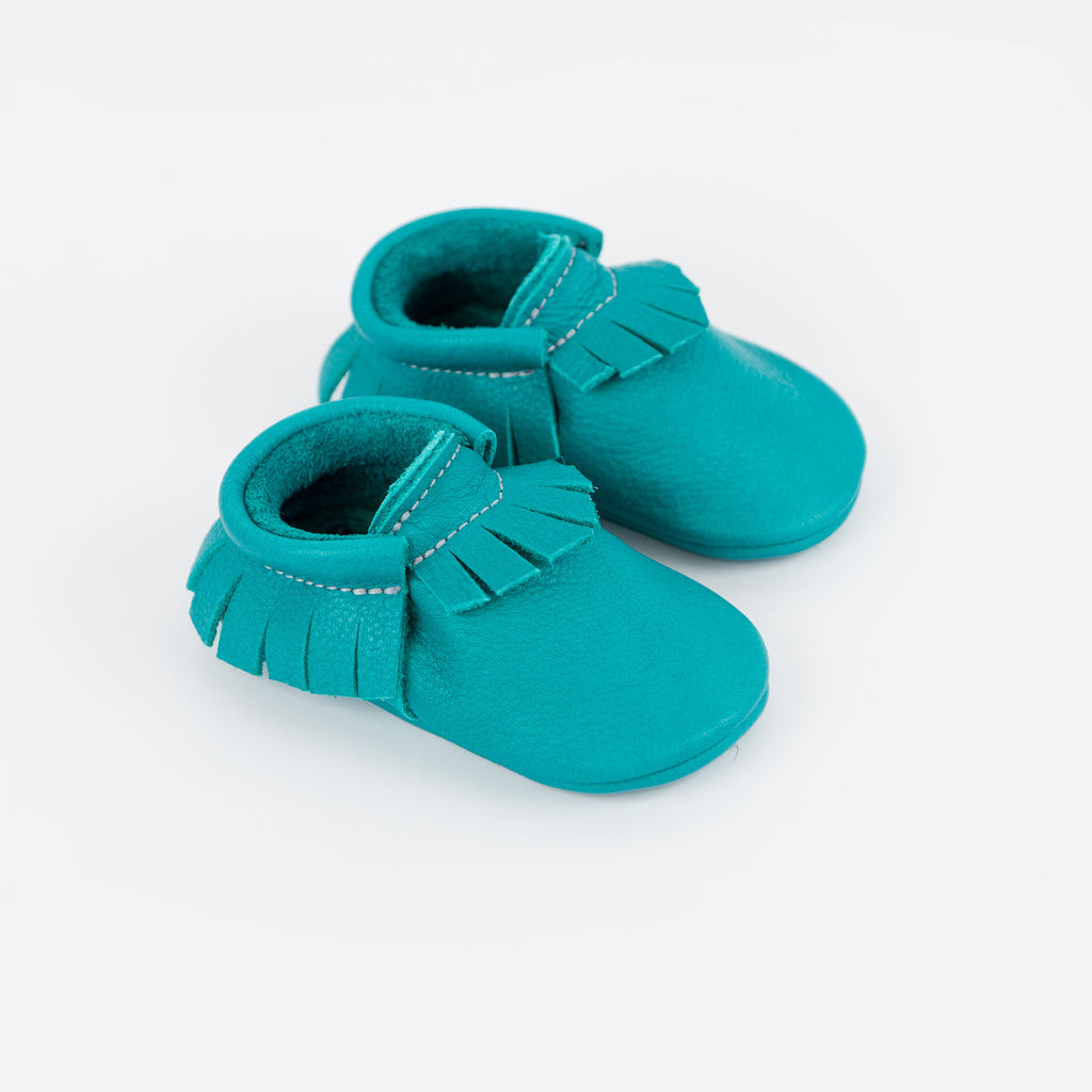 TEAL MOCCASINS STOCK SALE - VARIOUS SIZES
