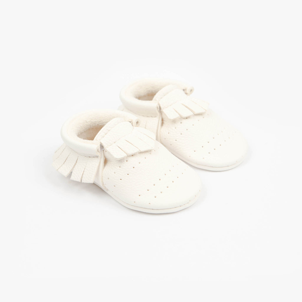 WHITE PERFORATED MOCCASINS STOCK SALE - VARIOUS SIZES