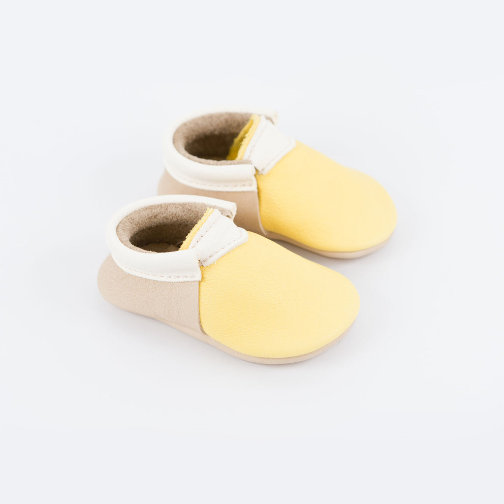 YELLOW/PUTTY/WHITE URBAN MOCCASINS STOCK SALE - VARIOUS SIZES