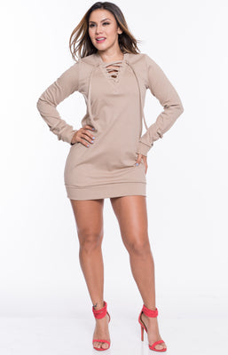 Nude Winter Love Dress