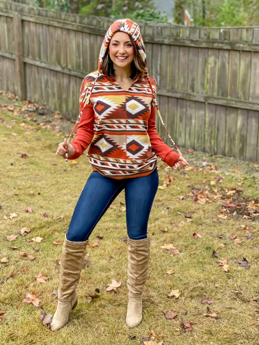 The Ashley Aztec Hoodie