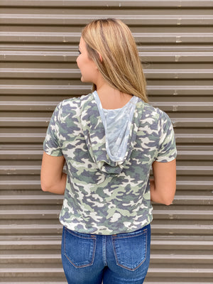 All Tied Up Camo Top