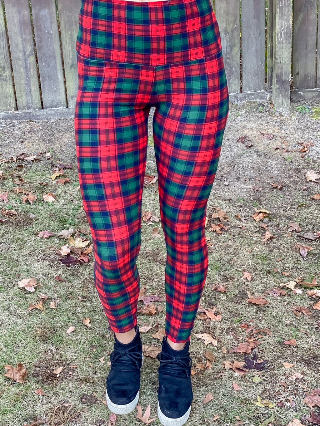 Christmas Plaid Butter Leggings