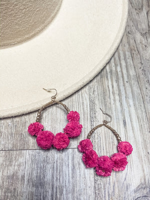 Pretty As A Picture Earrings (Hot Pink)