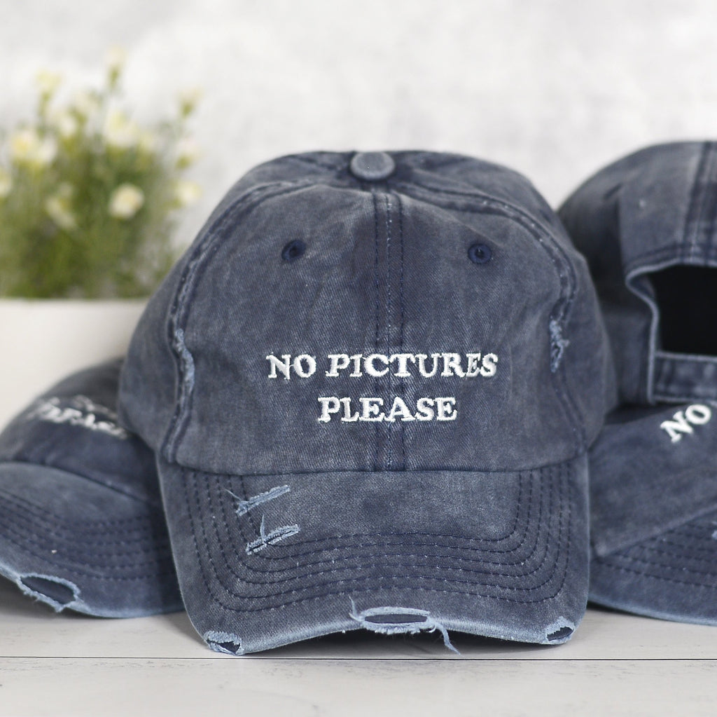 No Pictures Please Hat