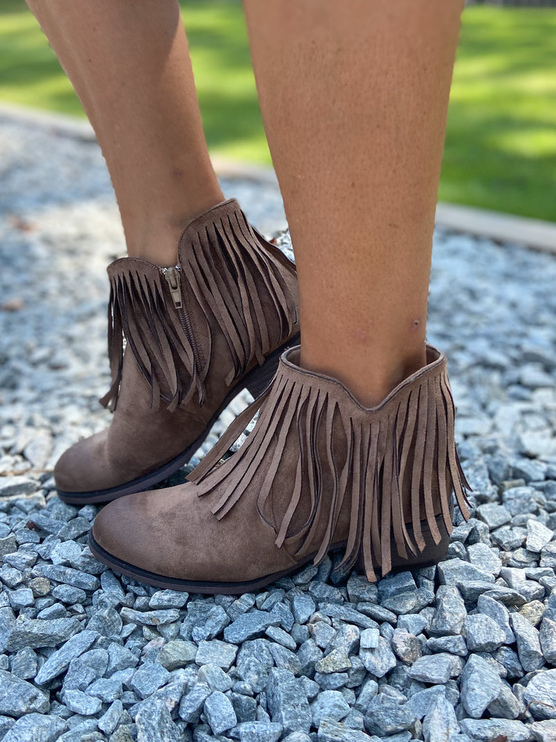 Falling For Fringe Booties