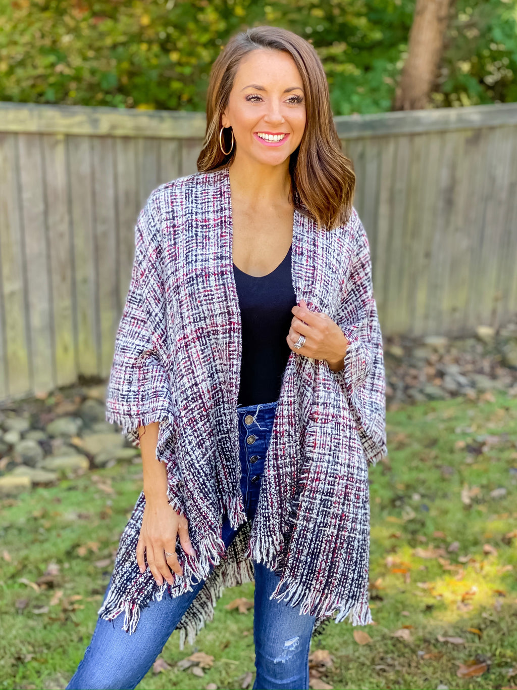 Never Go Without Poncho Cardigan