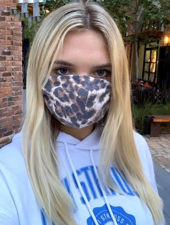 Cheetah Print Face Mask