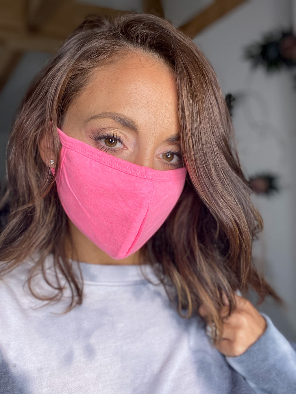 Hot Pink Face Mask