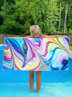 Sweet Waves Geode Rectangular Towel
