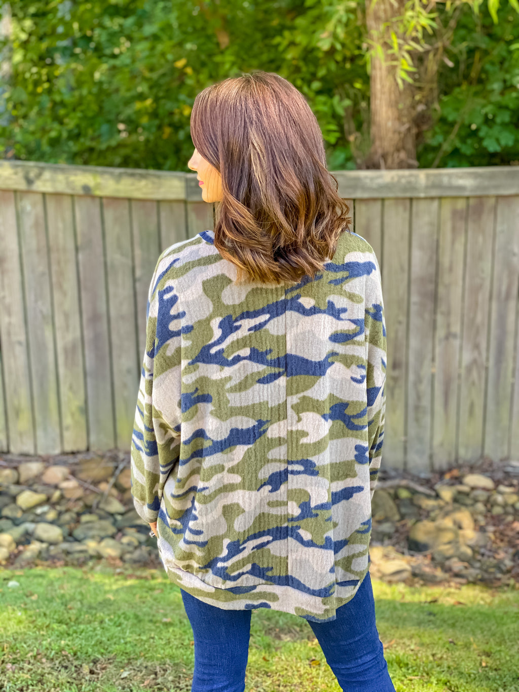Cover Me in Comfort Camo Pullover