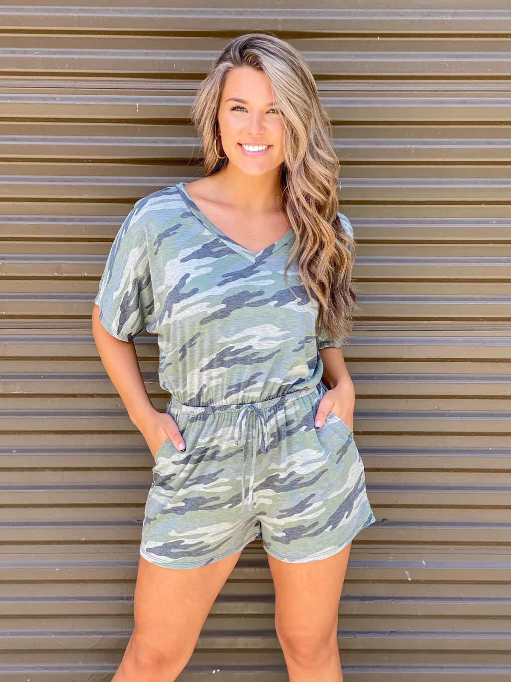 It's My Time Camo Romper