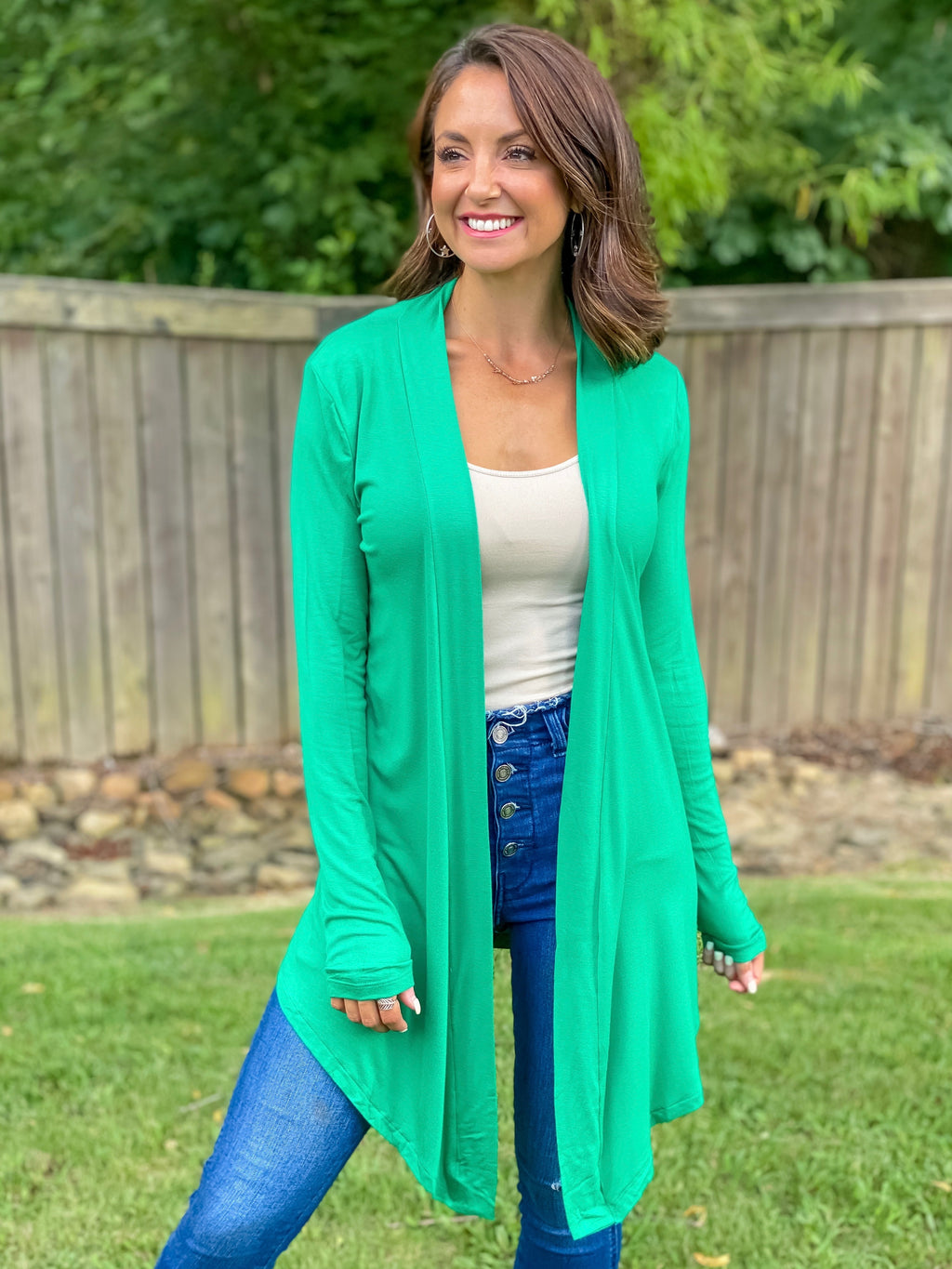 Count On Me Cardigan (Kelly Green)