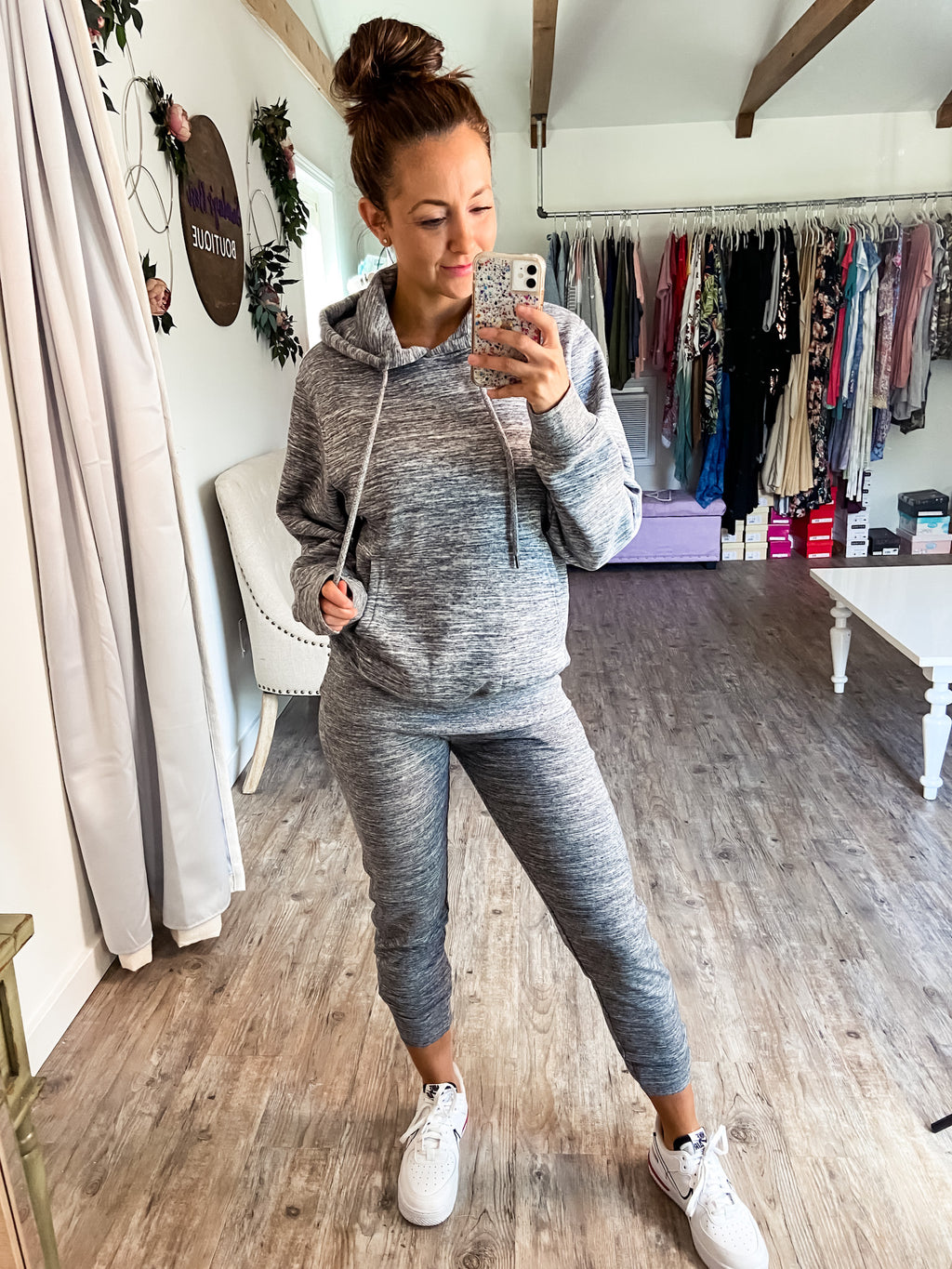 Let's Get Comfy Joggers (Marled Charcoal)