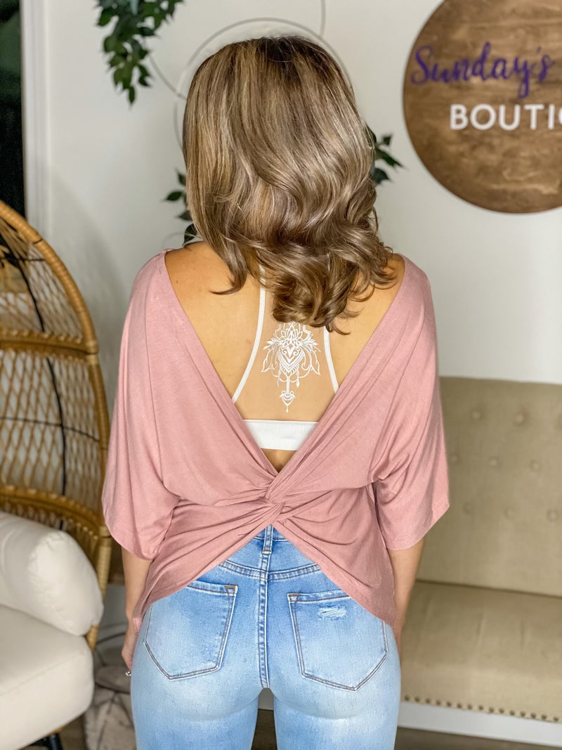 Can't Resist This Open Back Top (Mauve)