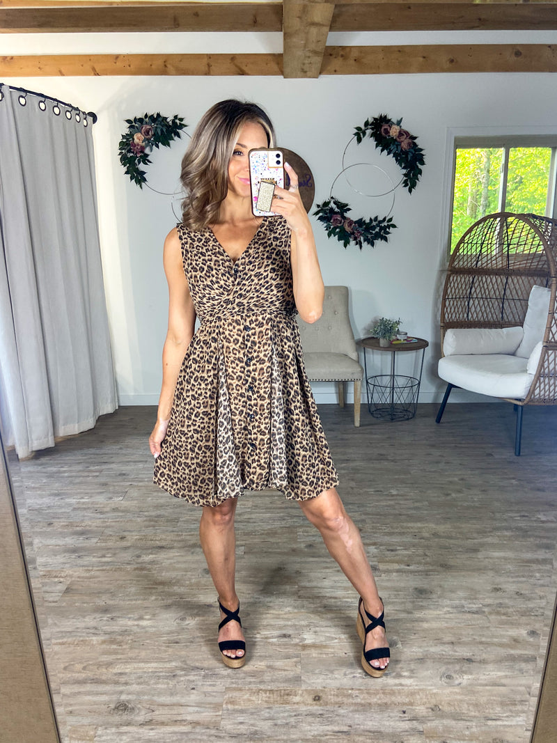 Animal Instincts Cheetah Dress