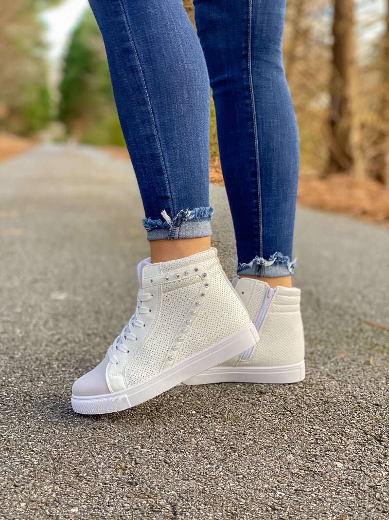 Rock With Me Studded High Top Sneaker