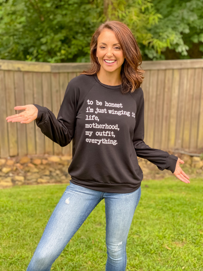 Just Winging It Motherhood Pullover