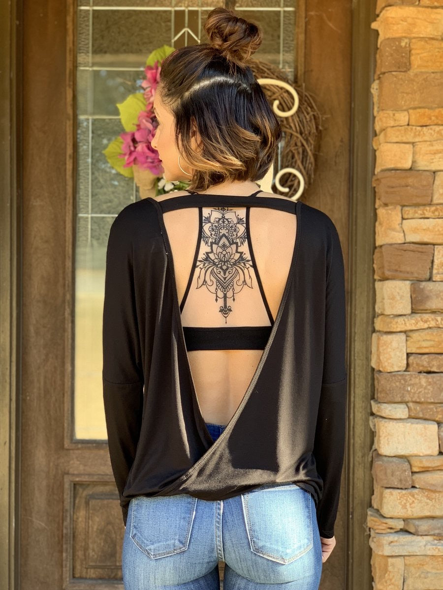 Tattoo Bralette (Black)