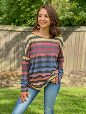 Colors of Fall Open Back Top