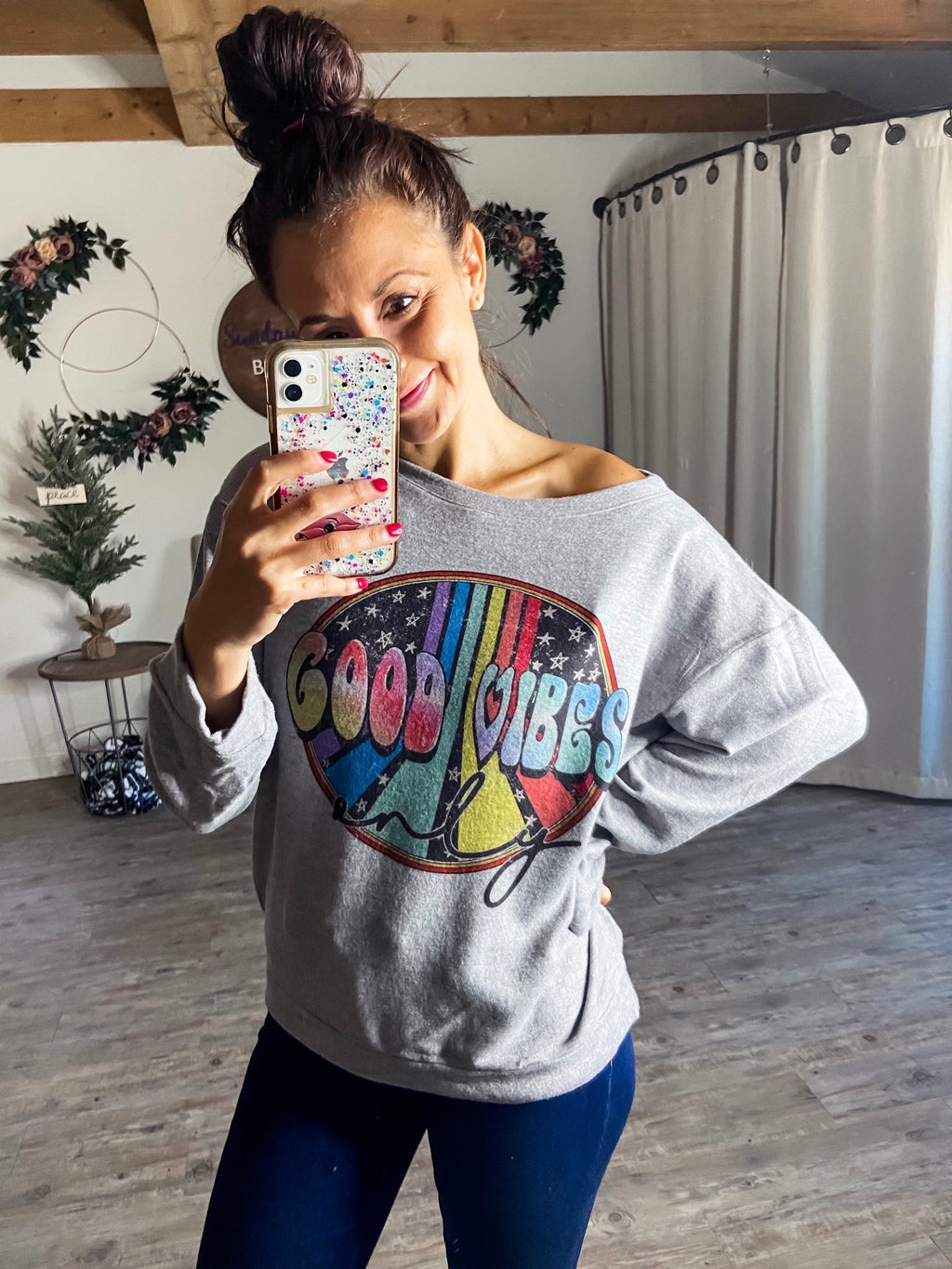 Good Vibes Only Hacci Pullover