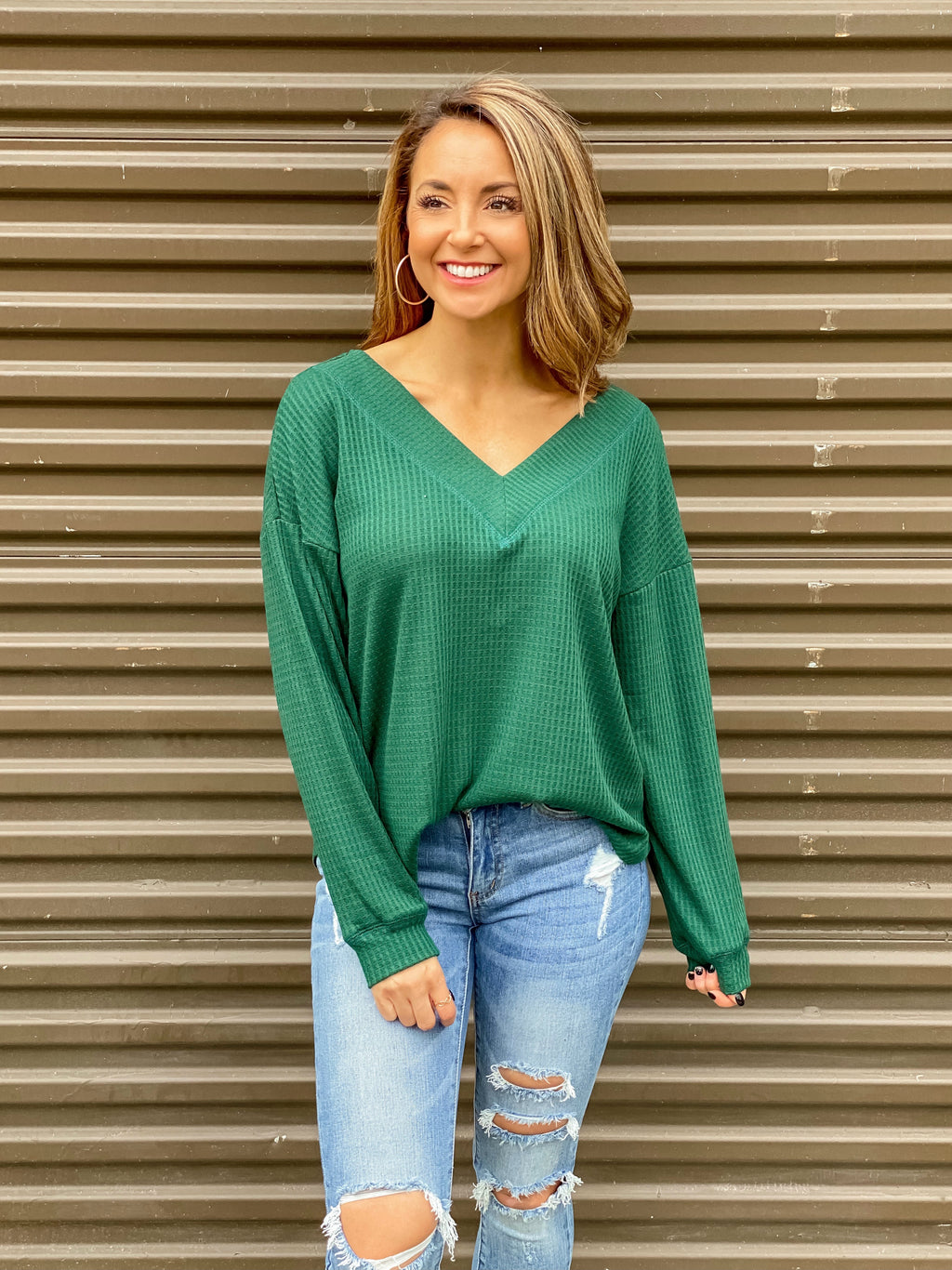 Something To Love Top (Dark Green)