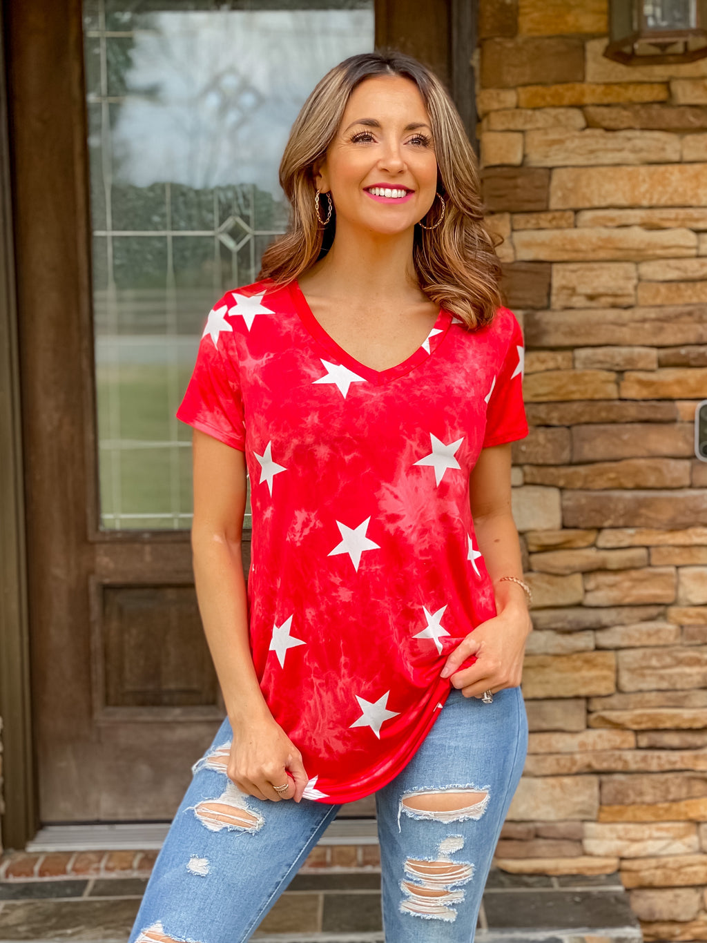 Shooting Stars Top (Red)