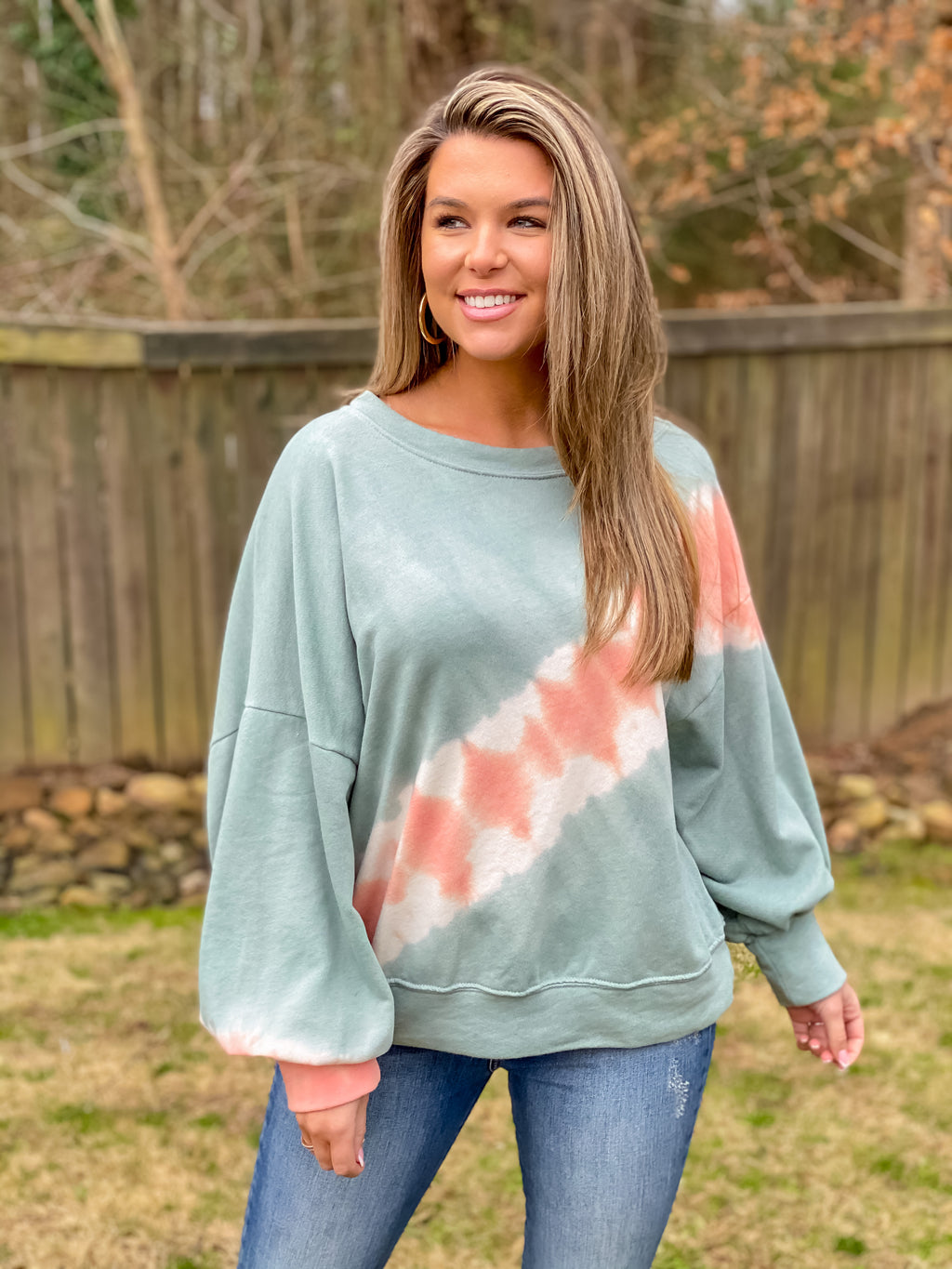 My Obsession Pullover (Peach/Sage)