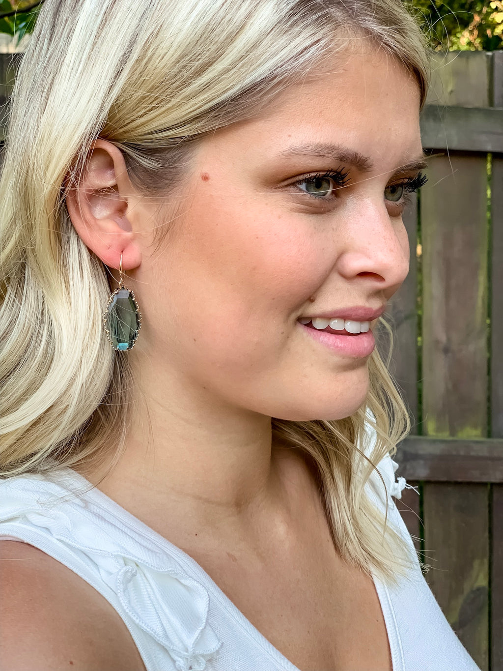 Feeling Fancy Earrings (Blue Crystal)