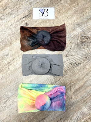 Girls Nylon Top Knot Headbands