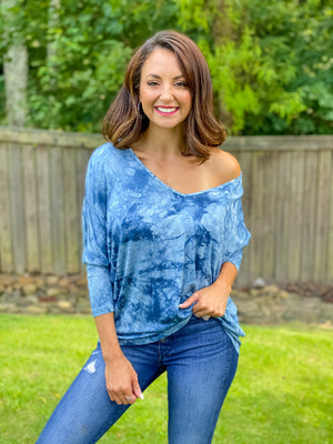 Into the Blue Tie Dye Top