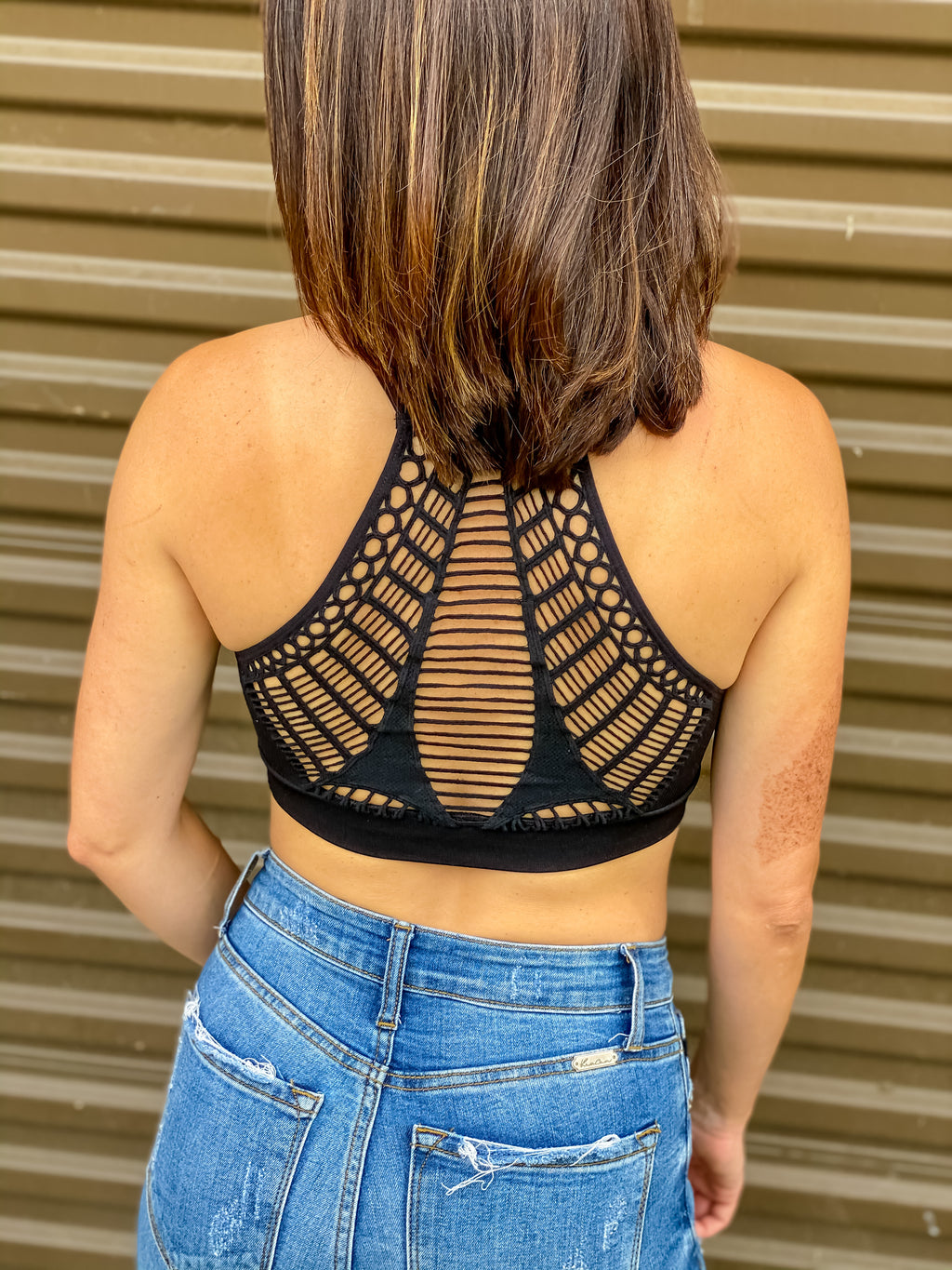 Webbed Back Bralette (Black)