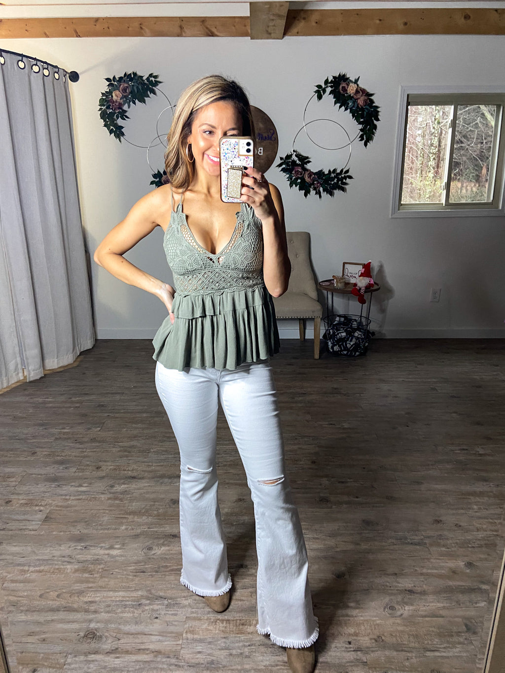 Freedom Bralette Top (Olive)