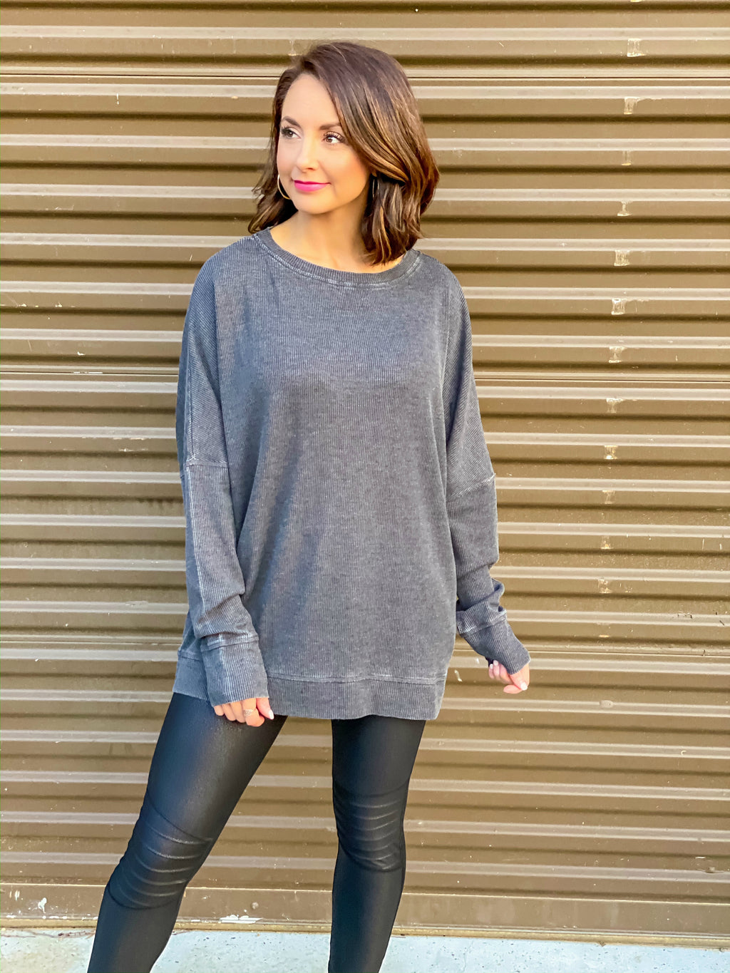 On The Go Pullover (Heathered Black)