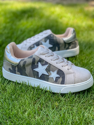 Best of Both Worlds Camo Star Sneakers
