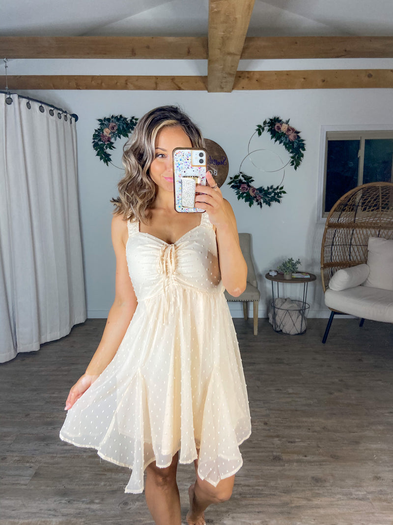 Let's Dance Tonight Cream Dress